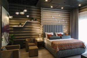 Интерьеры деревянных гостиниц