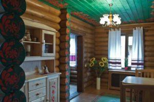 Интерьеры деревянных бань